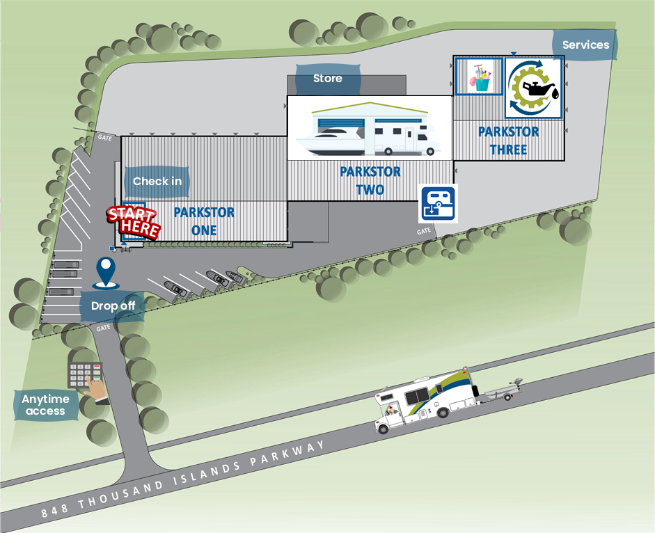 ParkStor Map