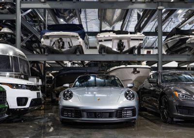Luxury car indoor storage